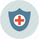 healthcare, medical care, medical shield, shield icon