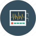 ekg, ekg signals, heart, pulse icon