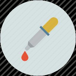 dropper, medicine, picker, pipette icon