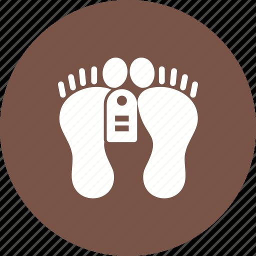 body, dead body, dead person, feet, lying, tag, victim icon