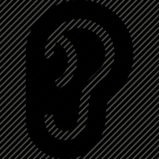 aural, ear, hearing, sense, sound icon