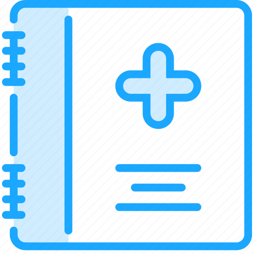 book, card, healthbook, journal, medical, medicine, pharmacy icon