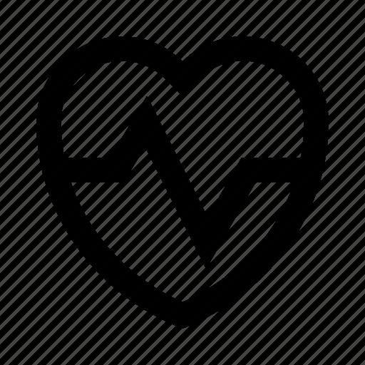 heart, like, love, pulse, romance, valentine icon