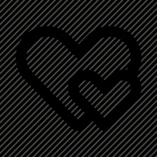 heart, hearts, like, love, romance, valentine icon