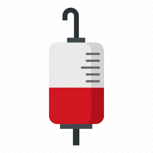 bag, blood, medicine, package, plastic, storage, transfusion icon