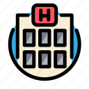 building, health, hospital, medical, medicine icon