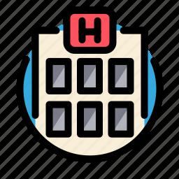 building, health, hospital, medical, medicine icon