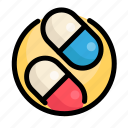 drugs, health, medical, medicine, pills icon