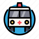 ambulance, cross, health, medical, medicine icon