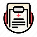 cross, health, medical, medicine, recipe, report icon