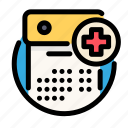 calendar, cross, health, medical, medicine icon