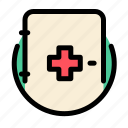 cross, emergency, emergency kit, health, medical, medical kit, medicine icon
