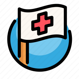 cross, flag, health, medical, medicine icon