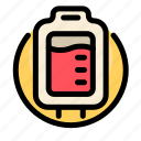 bag, blood, health, liquid, medical, medicine, transfusion icon