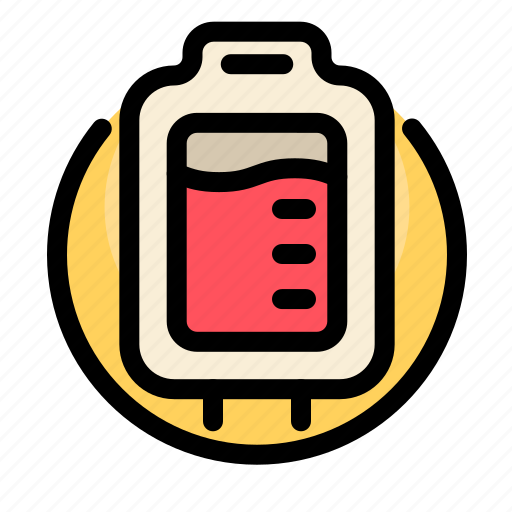 bag, blood, health, liquid, medical, medicine, transfusion icon