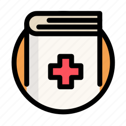 book, cross, health, medical, medicine icon