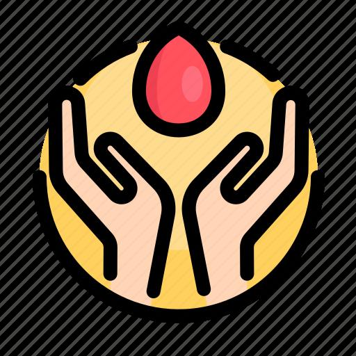 blood, hand, health, heart, medical, medicine icon