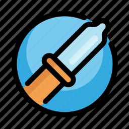 dropper, health, medical, medicine, pipette icon