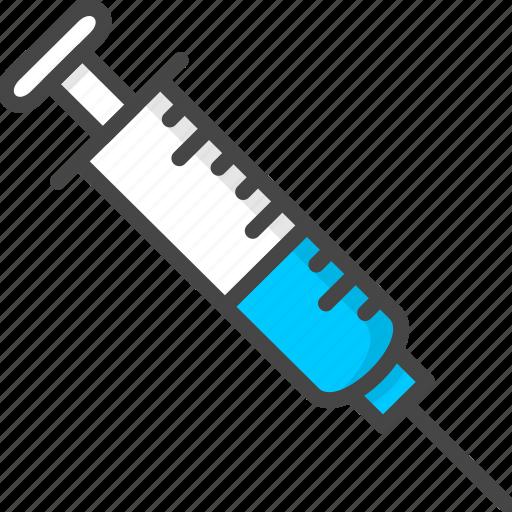 filled, medical, medicine, outline, service, syringe icon