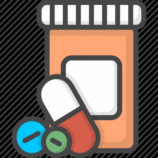 filled, medical, medicine, outline, pills, service icon