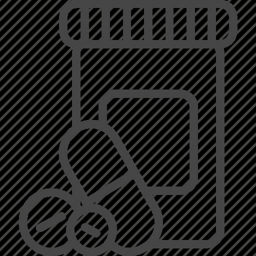 Line, medical, medicine, outline, pill, service icon - Download on Iconfinder