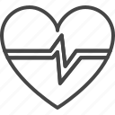 beat, heart, line, medical, medicine, outline, service icon