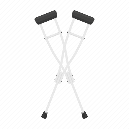 Crutches, equipment, invalid, medical, support, tool, wooden icon - Download on Iconfinder