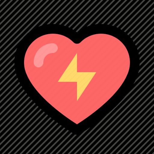 aed, cpr, defibrillator, emergency, heart, shock icon
