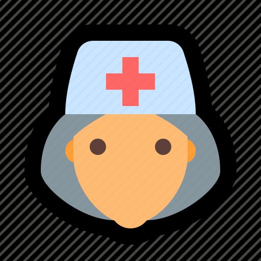 attendant, doctor, matron, nurse, nursing icon