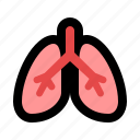 breathing, breatр, lung, lungs, respiration, viscera icon