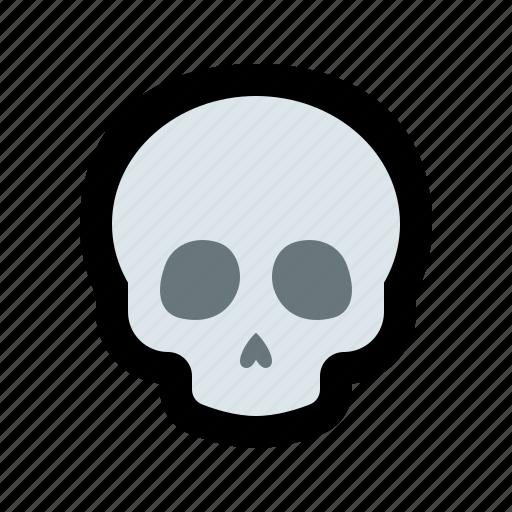 danger, dead, death, head, skeleton, skull icon