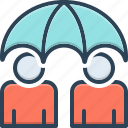 insurance, life, long, permanent, policy, term, umbrella icon