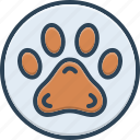 animal, care, foot, paw, pawprint, pet, veterinarian icon