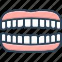 chew, dental, masticate, orthodontic, periodontics, teeth, tooth icon