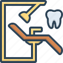 chair, dentist, orthodontics, stomatologist, surgery, treatment icon