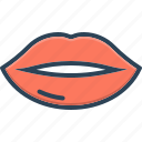 desire, kissing, lips, lipstick, mouth, osculate, sensuality icon