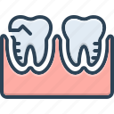 molar silhouette, mouth, orthodontics, prosthesis, silhouette, toothache, treatment icon