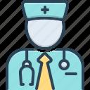 connoisseur, expert, advisor, medical, doctor, stethoscope, specialist icon