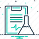 experiment results, feedback, laboratory, solution, survery, test tube, testimonial icon