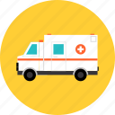 ambulance, car, emergency, hospital, medical, transport, transportation, urgency, van, vehicle icon