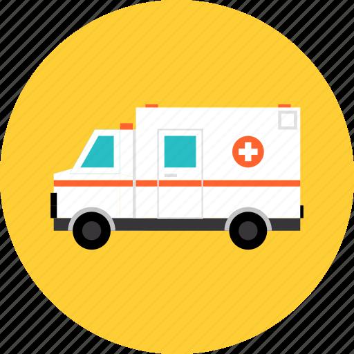 ambulance, car, emergency, hospital, medical, transport, transportation, urgency, van, vehicle icon