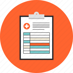 clinical, clipboard, document, exam, health, medical, paper, prescription, record, report icon