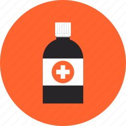 bottle, care, cure, heal, health care, medical, medication, syrup, treatment icon