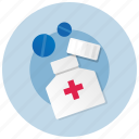 bottle, health, medication, medicine, pills icon