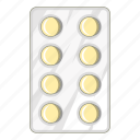hospital, medicine, package, pill icon