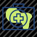 box, carebox, emergency, health, medichine, pppk icon