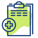 clinic, document, file, health, hospital, medichine icon