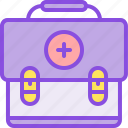 aid, bag, case, kit, medical, medicine, pharmacy icon