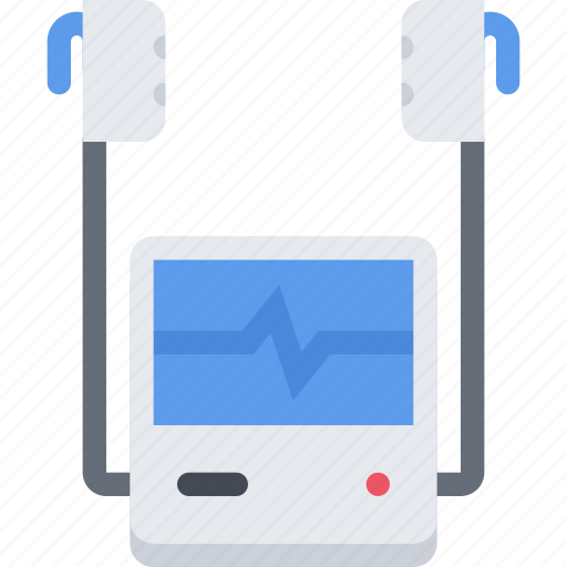 Clinic, doctor, defibrillator, hospital, treatment icon