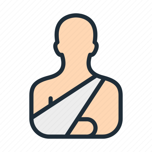 arm, body, broken, hand, health, injury, treatment icon